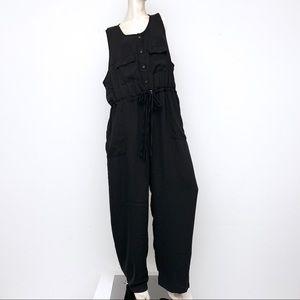 Glamorous Curve Button Front Jumpsuit